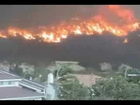 San Diego, Cedar Fire, Poway California. October 2003