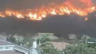 San Diego, Cedar Fire, Poway California. October 2003