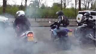 Last respect funeral biker