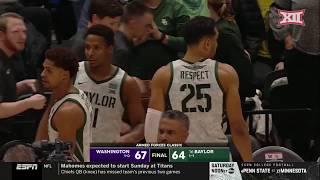 Washington vs Baylor Men's Basketball Highlights