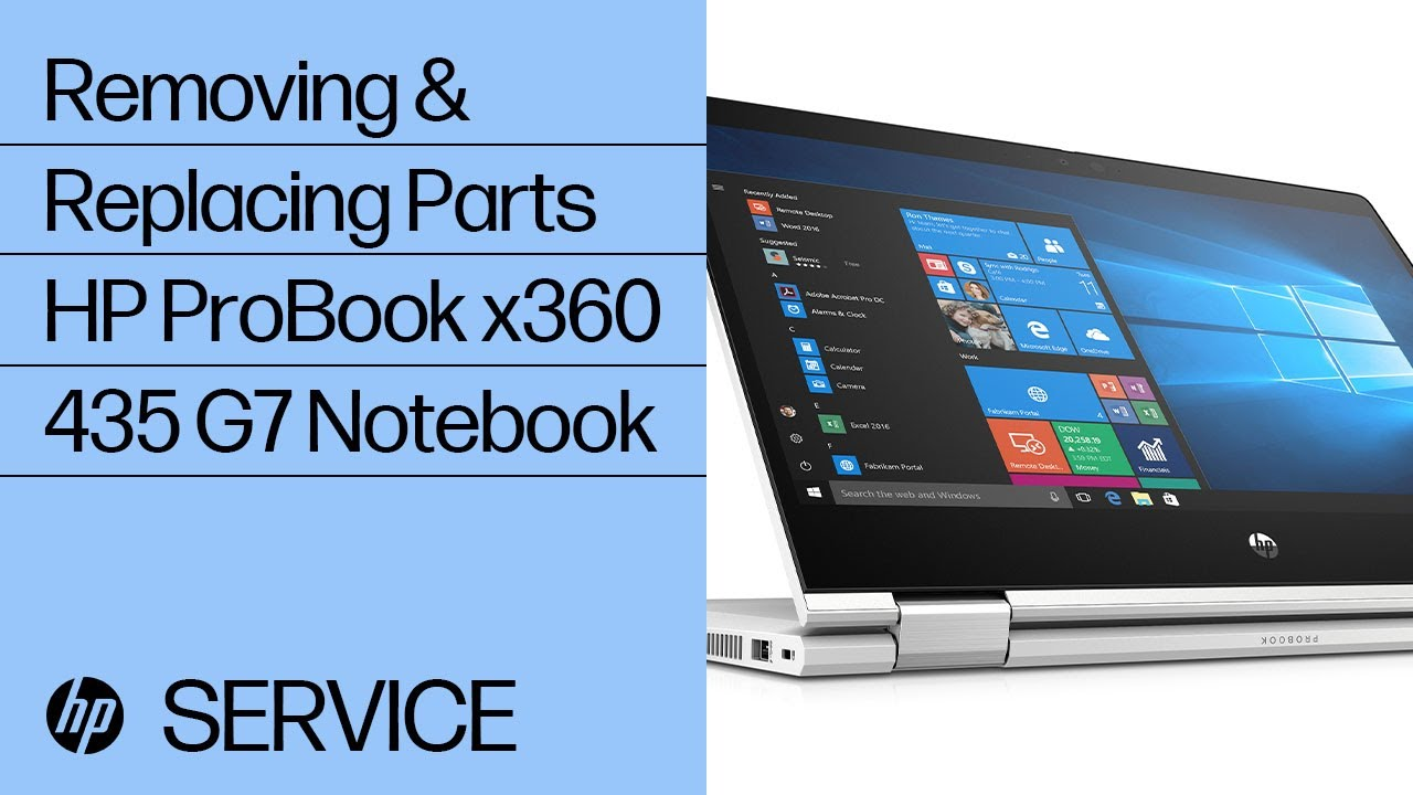Service Teardown: HP ProBook x360 435 G7 Notebook PC | HP Computer Service | HP