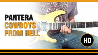 How To Play Cowboys From Hell From Pantera - Electric Guitar Guitar Lesson