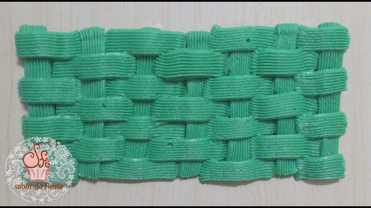 Como hacer la t cnica de canasta con manga pastelera - Decorar cestas de mimbre paso a paso ...