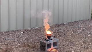 Using Thermite To Destroy a Hard Drive pt  1
