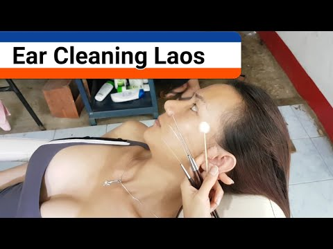 Awesome Ear Cleaning Vietnam Style in Laos