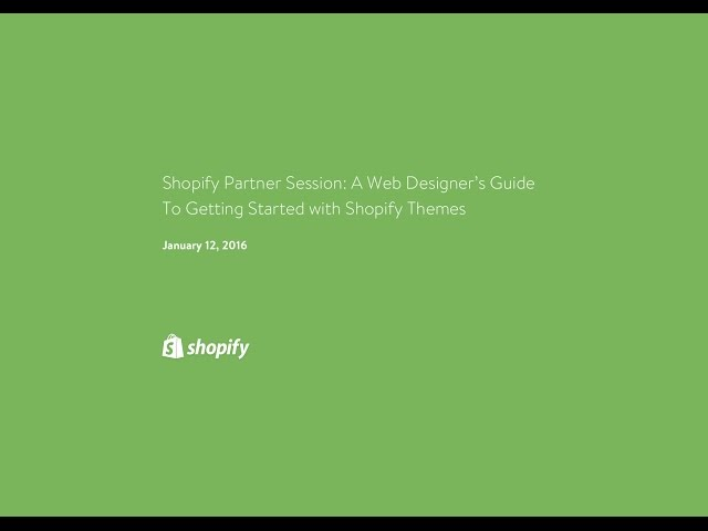 Getting Started with Shopify Themes // Levin Mejia - YouTube
