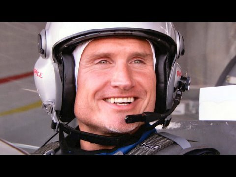 David Coulthard and Hannes Arch fly over Abu Dhabi F1 track
