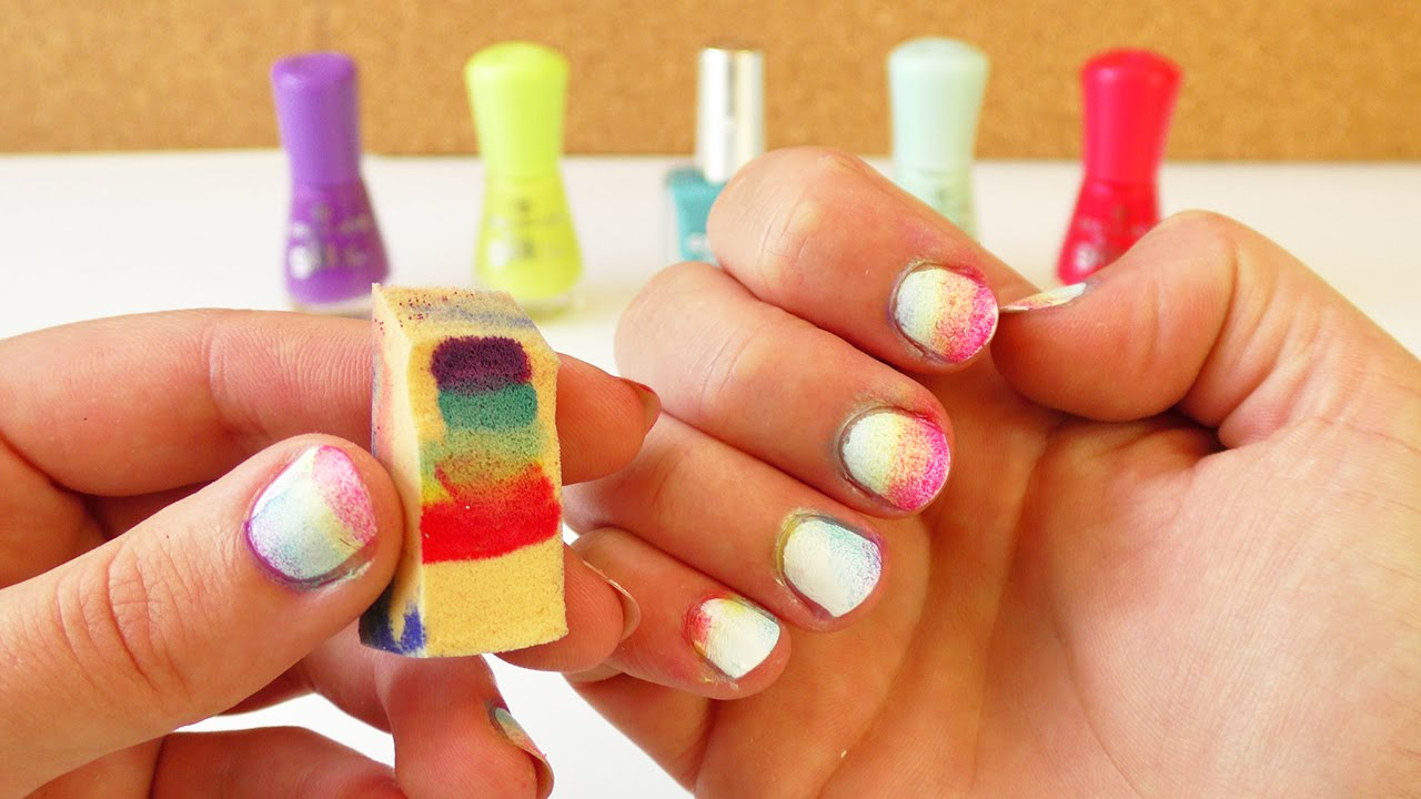 regenbogen nagel design bunte fingern gel f r den sommer rainbow nail art youtube. Black Bedroom Furniture Sets. Home Design Ideas