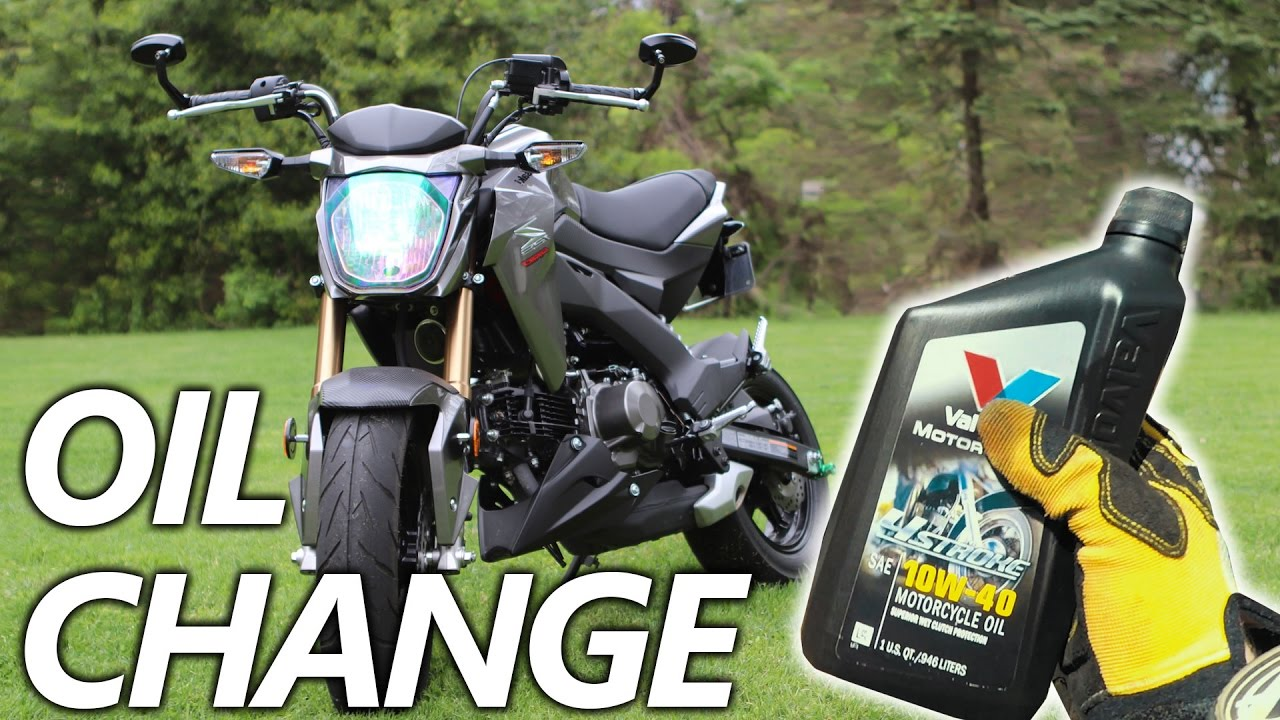 How To Change The Oil On The Kawasaki Z125 Pro Youtube