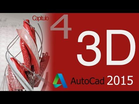 AutoCAD 2015, Tutorial como extruir en 3D un objeto en 2D, Curso 3D ...
