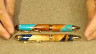 Showing off the Serenity Ballpoint on Father's Day at Simply Wood Studios