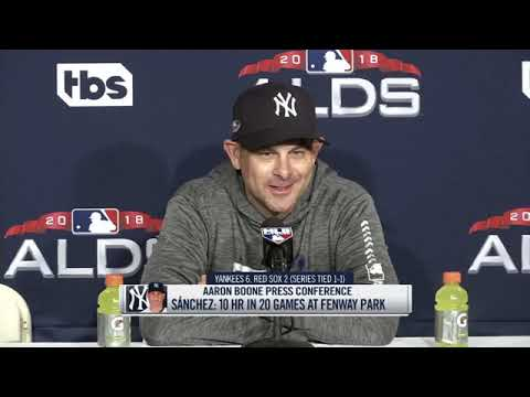 Aaron Boone on the Yankees' ALDS Game 2 win