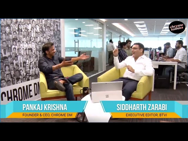 Chrome Talkies S1 Ep4 - Siddharth Zarabi, Executive Editor - BTVI Promo; Nov 2018