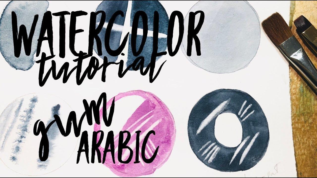 cda618e48fa5e Watercolor Technique: Gum Arabic ~ WATERCOLOUR by Scarlett Damen ...