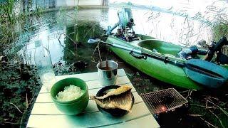 軽自動車に積める35000円激安コンパクトフィッシングカヤックで釣りして焼き魚定食作ったよ!