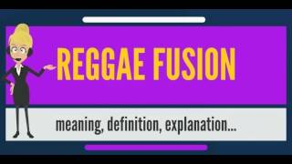 What is REGGAE FUSION? What does REGGAE FUSION mean? REGGAE FUSION meaning & explanation