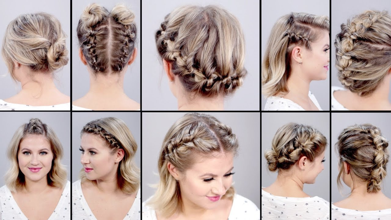 10 SUPER EASY FAUX BRAIDED SHORT HAIRSTYLES Topsy Tail Edition