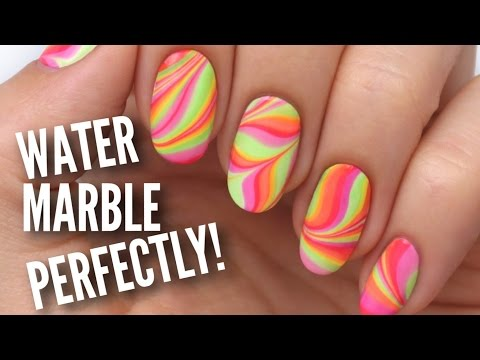 Water Marble Your Nails Perfectly!