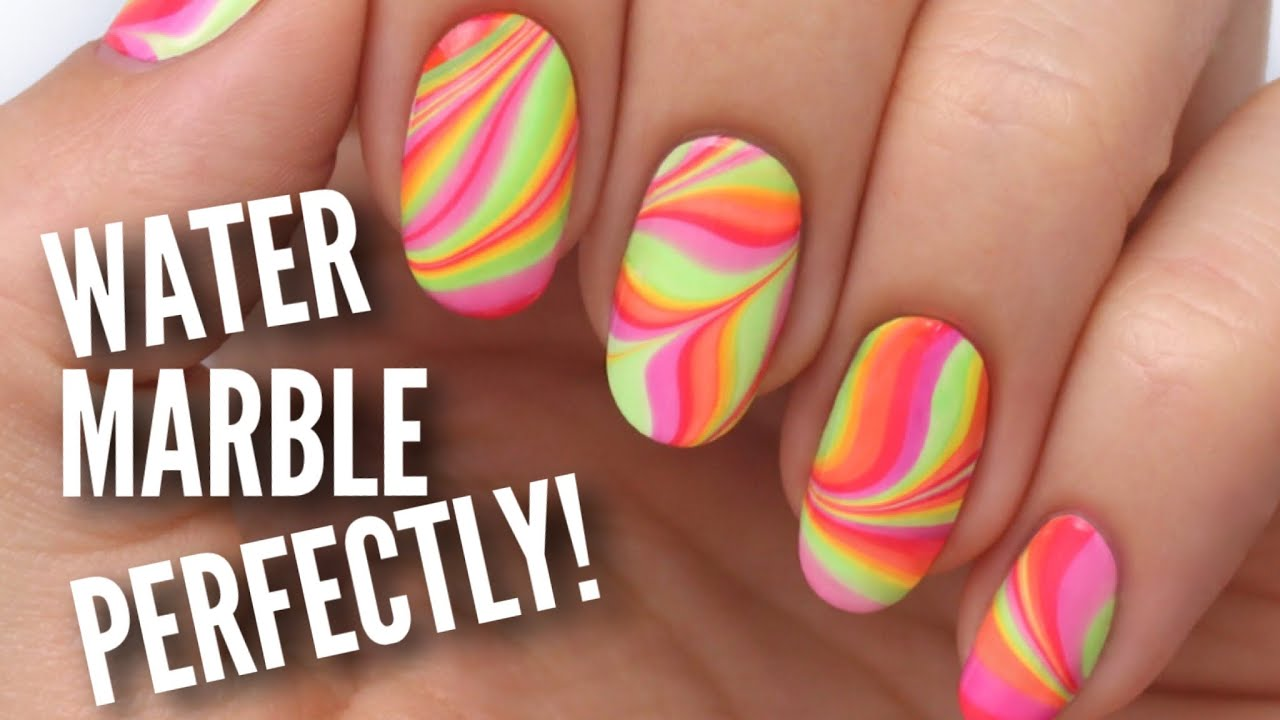 water marble nails perfectly