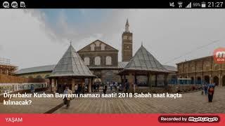 Diyarbakır Bayram Namazı Saat Kaçta? 21 Ağustos 2018