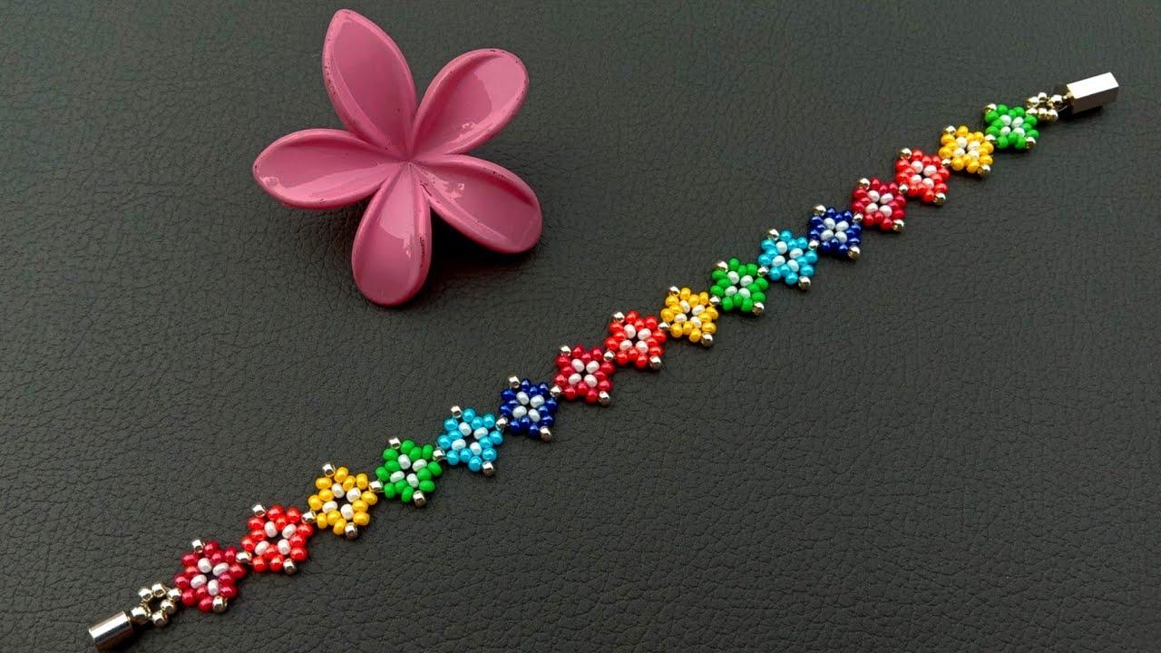 Easy Seed Bead Jewelry Making Tutorials//Bracelet//Handmade Jewelry// Useful & Easy