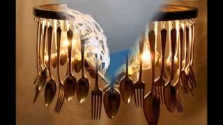 Оригинальные люстры своими руками из ложек, вилок и кухонных принадлежностей