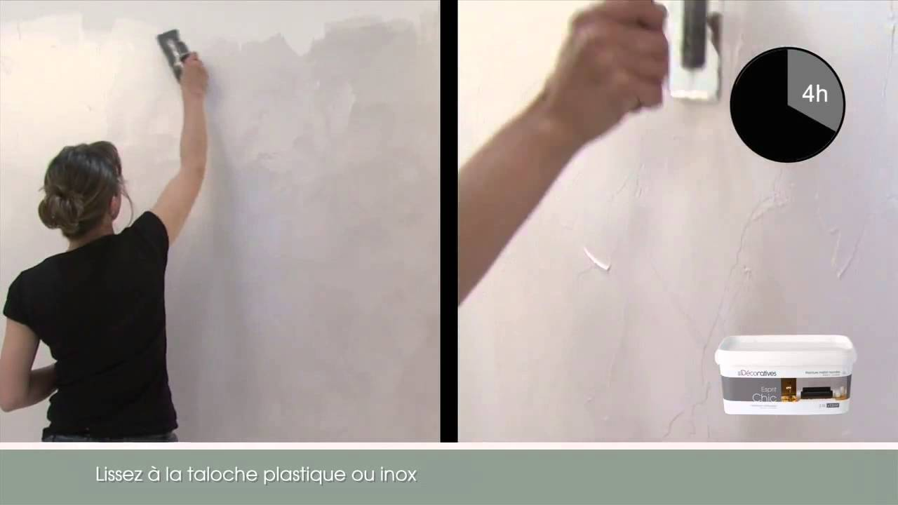 Peinture nacr e esprit chic les d coratives youtube - Les decoratives leroy merlin ...