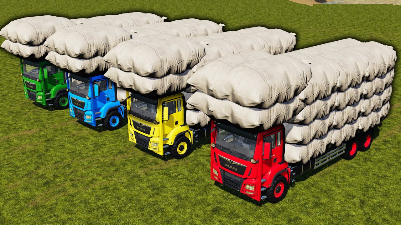 LORD OF THE GRASS ! BALING & LOADING GRASS SACK with COLORED AUTOLOADERS ! Farming Simulator 19