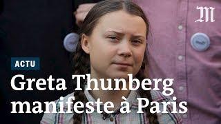 Greta Thunberg prend le micro à Paris