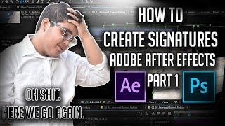 So erstellen Sie Signaturen in AE | Teil 01 | Jazib Ali 360