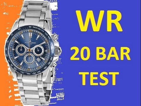 Water Resistant 10 Bar And 20 Jacques Lemans Watches 1 1836 Test At Home You