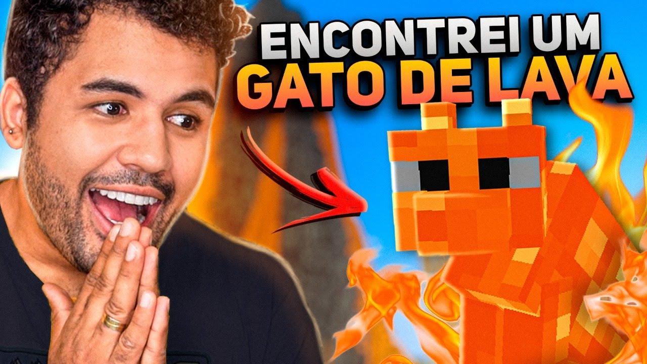 ENCONTRAMOS UM GATINHO FEITO DE FOGO!!!!! 🔥 - MINECRAFT S02 #53