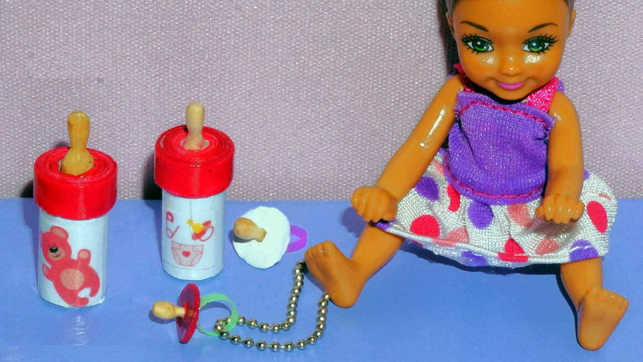 How to make a miniature baby bottle and pacifier for doll for Toys r us crafts