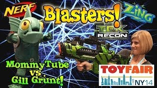 BLASTER TIME at the NY TOY FAIR! Nerf, Tek Recon, Zing, Poppers, Super Soaker! 2014