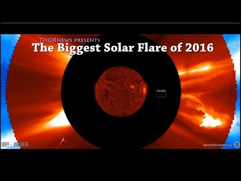 The Biggest Solar Flare of 2016