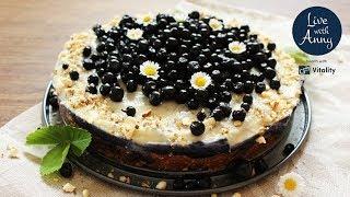 Borůvkový raw dort | nepečená bašta na léto | vegan | bezlepkové | videonávod