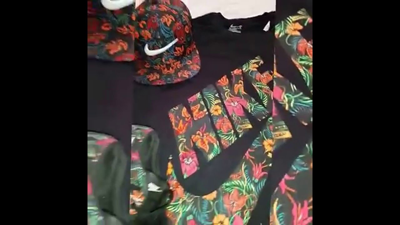 nike shirt with flowers