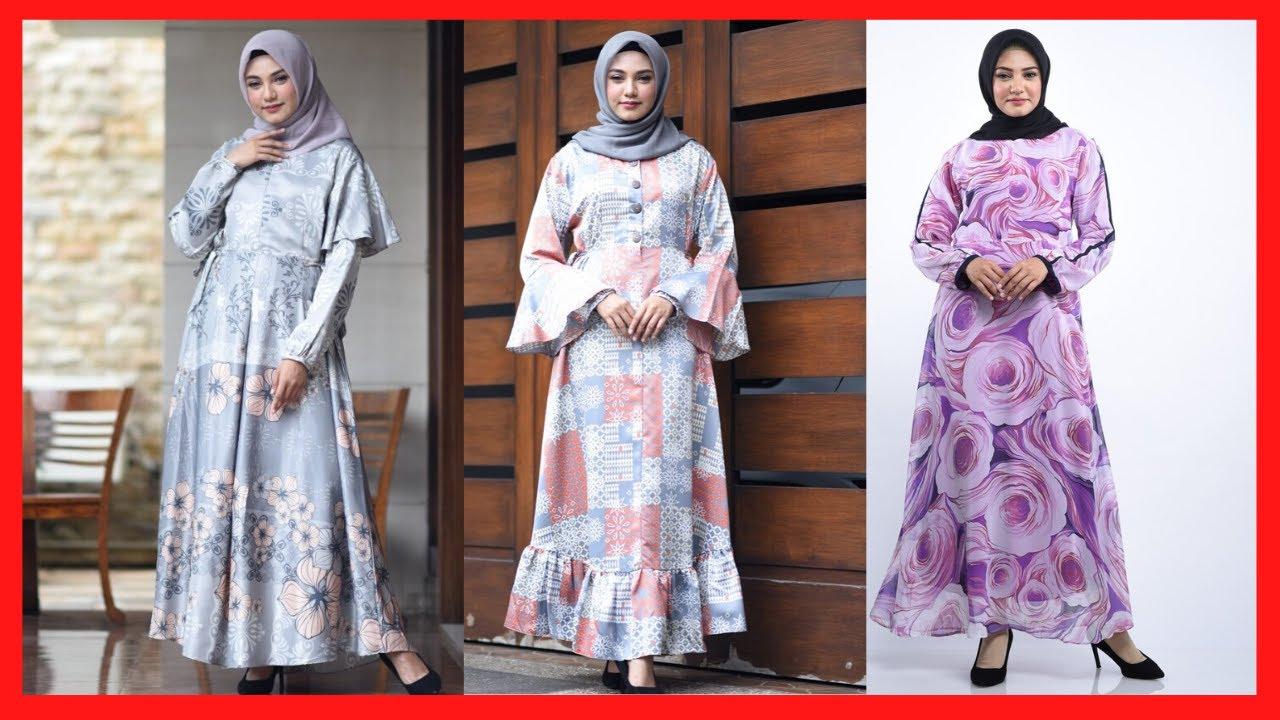 25 Trend Model Gamis Motif Bunga Kekinian Branded Terbaru Untuk Wanita Muslim Agar Semakin Cantik Youtube
