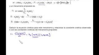 Aproximación al estado estacionario para la diazotación de la anilina