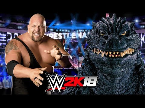 BIG SHOW vs GODZILLA | WWE 2K18 Gameplay