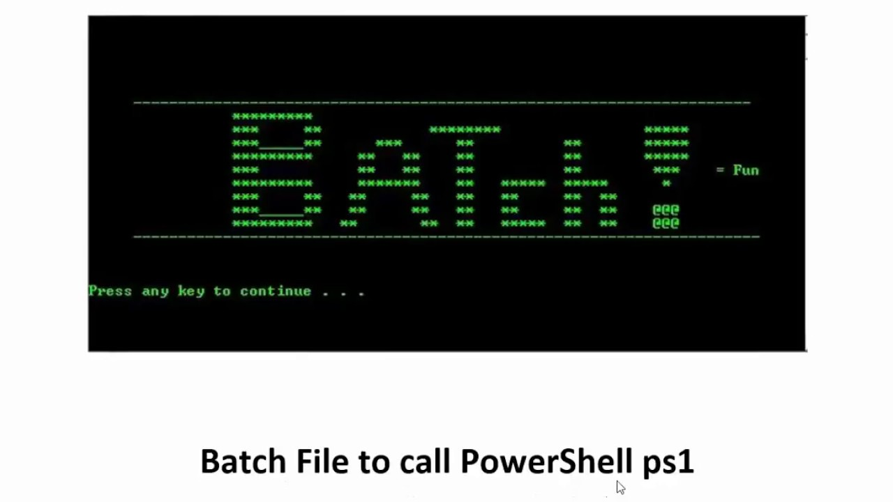 Batch File to run PowerShell ps1 script