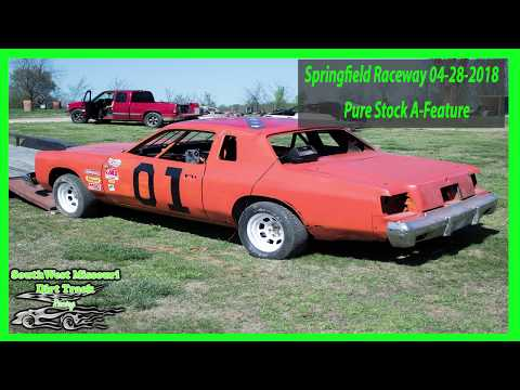 Pure Stock A-Feature - Springfield Raceway 4-28-2018