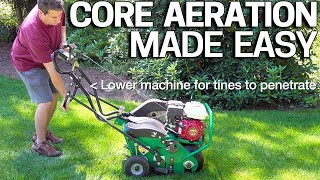 Lawn Aerator - Aerate your Lawn for Beginners - CORE AERATION How To