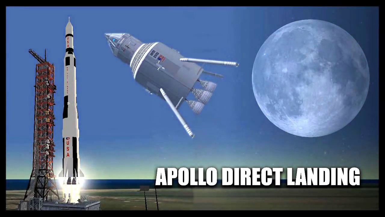 Apollo direct landing Orbiter Space Flight Simulator