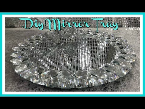DIY - HOME GOODS INSPIRED BLING MIRROR TRAY - MOTHERS DAY GIFT