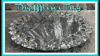 DIY HOME DECOR HOME GOODS INSPIRED BLING MIRROR TRAY - MOTHERS DAY GIFT