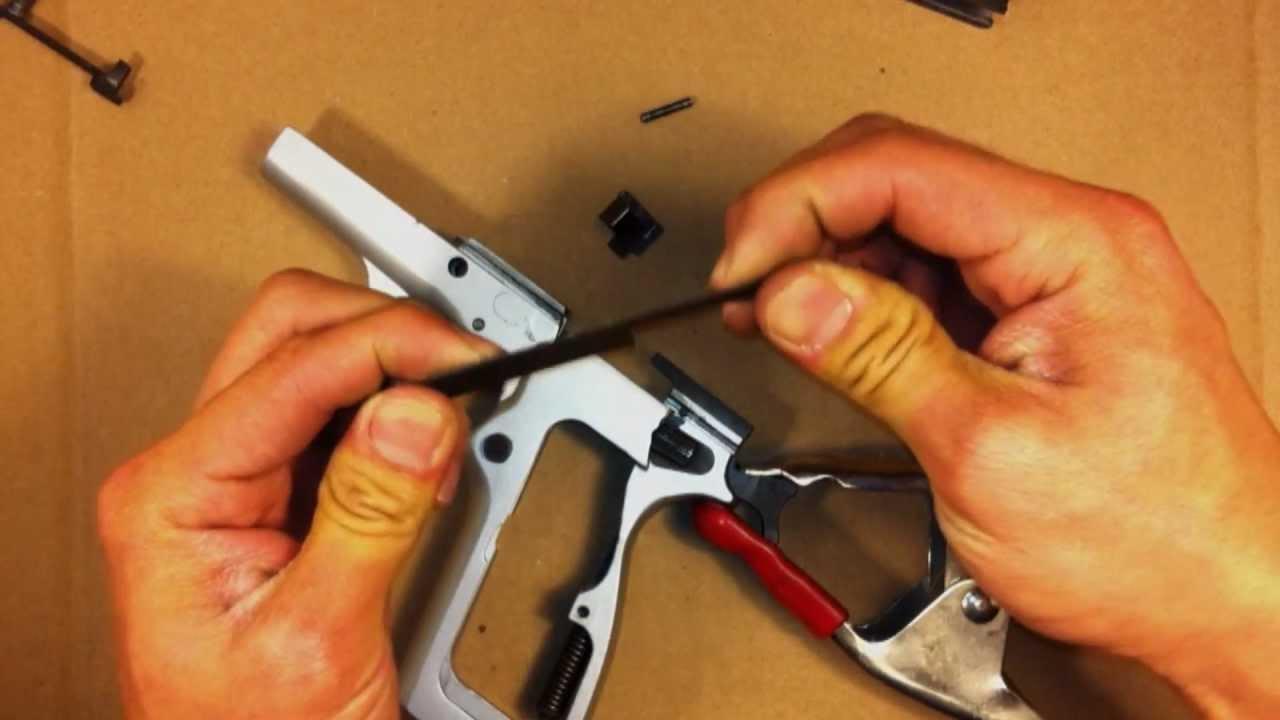 Browning Hi Power Trigger Job - YouTube