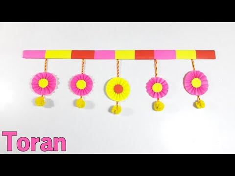 DIY Door Toran Making Idea | Toran Making From Waste Material | Making Toran For Diwali
