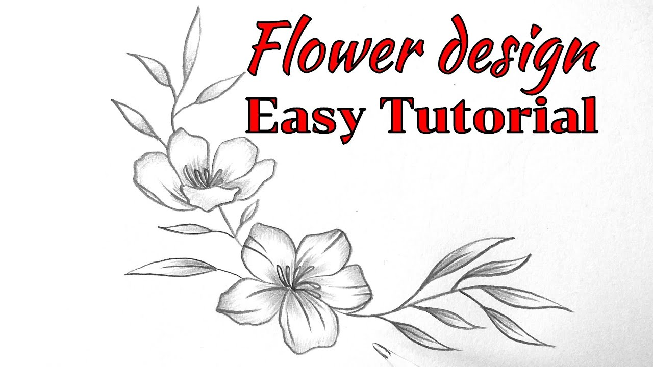 How To Draw Flower Border Design Easy Drawing Flower Border Design Simple Easy Floral Designs Youtube