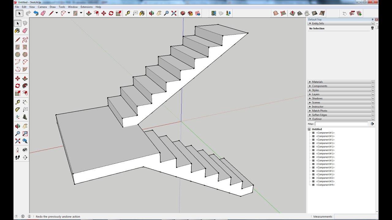 Como Criar Escadas Com Patamar Intermédio No Sketchup Wwwsketchup